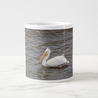 American White Pelican In Breeding Condition Giant Coffee Mug