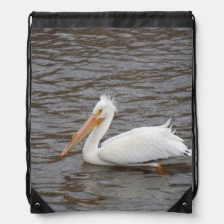 American White Pelican In Breeding Condition Cinch Bag