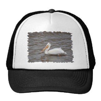 American White Pelican In Breeding Condition Trucker Hat