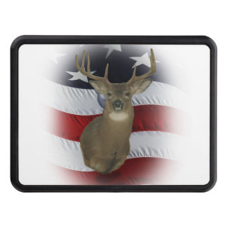 American Whitetail Deer Hunter Trailer Hitch Cover