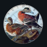 "American Widgeon ducks on a rock Dartboard<br><div class=""desc"">This board features Ducks- Two American widgeon ducks on a rock in the blue ocean, water rippling to reflect the ocean blue colors of the background and they feed on the roots and seeds of grasses, water-insects, beech-nuts, small fry, and leeches. This Realistic artwork is great for someone who loves...</div>"