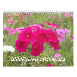 American Wildflowers Custom Printed Calendar