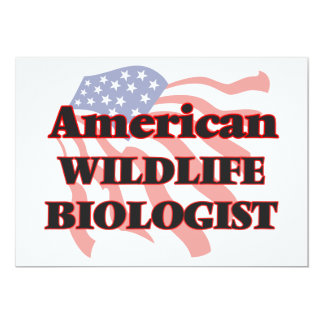 American Wildlife Biologist 5x7 Paper Invitation Card