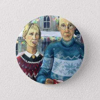 American winter - Grant Wood parody Button