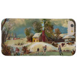 American Winter Life Christmas Scene Barely There iPhone 6 Plus Case