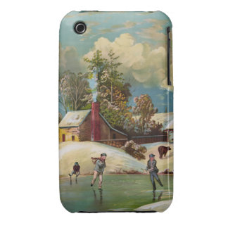 American Winter Life Christmas Scene iPhone 3 Case