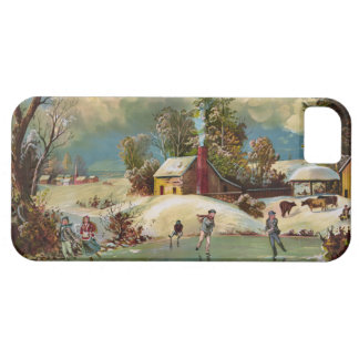 American Winter Life Christmas Scene iPhone 5 Case