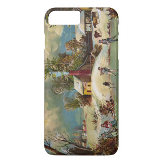 American Winter Life Christmas Scene iPhone 7 Plus Case