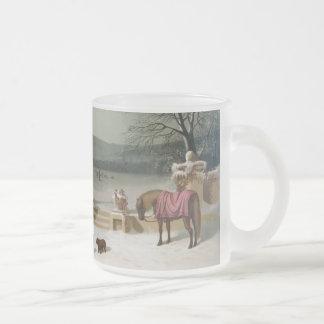 American Winter Scene Mug