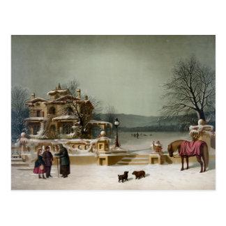 American Winter Scene Postcard