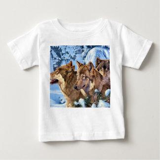 American wolf - brown wolf - wolf animal baby T-Shirt