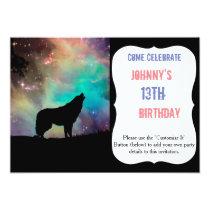 American wolf - wolf design - silhouette wolf invitation