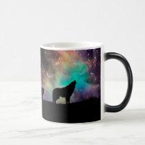 American wolf - wolf design - silhouette wolf magic mug