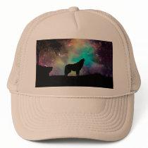 American wolf - wolf design - silhouette wolf trucker hat