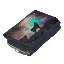 American wolf - wolf design - silhouette wolf wallet