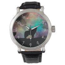 American wolf - wolf design - silhouette wolf wrist watch