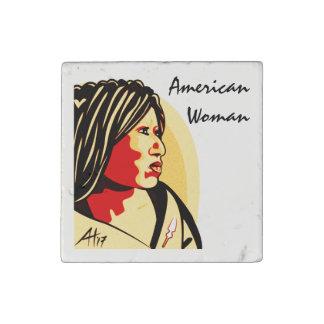 """""""American Woman"""" by Aleta Stone Magnet"""