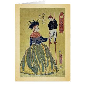 American woman by Utagawa,Yoshitora Greeting Card