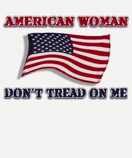 American Woman Don t Tread On Me Tshirt