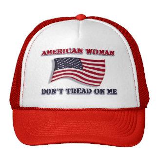 American Woman Don't Tread On Me Trucker Hat