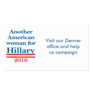American Woman for Hillary Clinton Double-Sided Standard Business Cards (Pack Of 100)