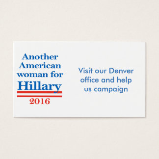 American Woman for Hillary Clinton Business Card