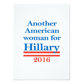 American Woman for Hillary Clinton Card