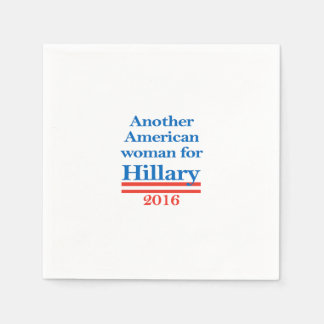 American Woman for Hillary Clinton Napkin