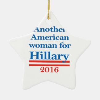 American Woman for Hillary Clinton Ceramic Star Ornament