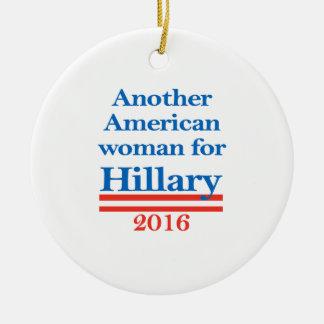 American Woman for Hillary Clinton Round Ceramic Ornament