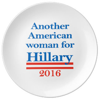 American Woman for Hillary Clinton Porcelain Plate
