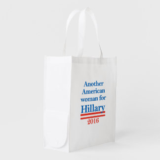 American Woman for Hillary Clinton Reusable Grocery Bag