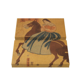 American Woman Riding Sidesaddle Canvas Print