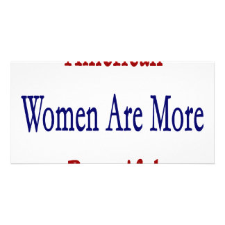 American Women Are More Beautiful Photo Cards