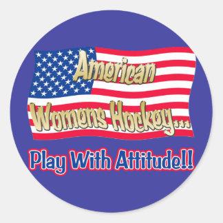 American Womens Hockey Sticker