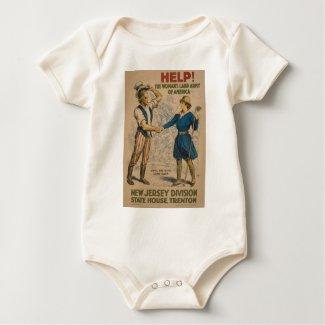 American Women's Land Army Baby Bodysuit