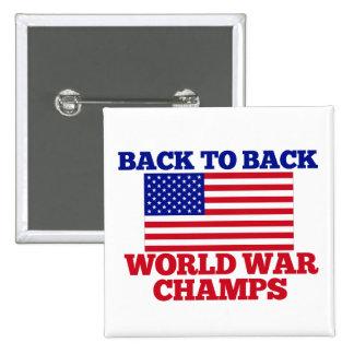 American World War CHAMPS 2 Inch Square Button