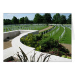 American World War Two Cemetery Cambridge England Greeting Card