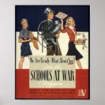 American WW2 Schools At War Poster