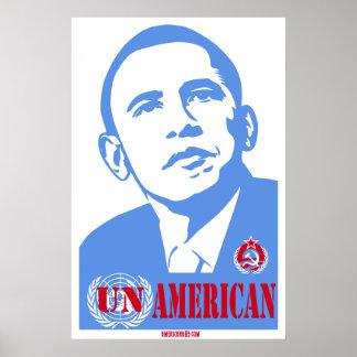 """Americana83's Obama """"UN"""" American Poster"""