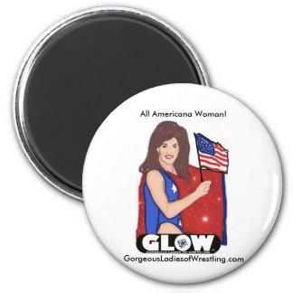 Americana 2 Inch Round Magnet