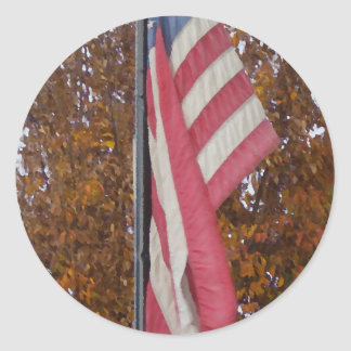 Americana 4th of July Memorial Day Patriotism USA Classic Round Sticker