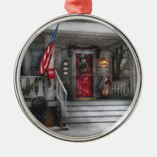Americana - A Tribute to Rockwell (Westfield, NJ) Metal Ornament