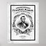 Americana: Abraham Lincoln antiguo marzo fúnebre Póster