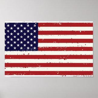 Americana American Flag Poster