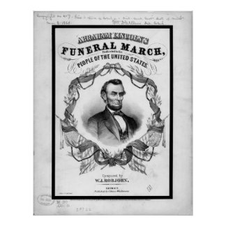 Americana: antique Abraham Lincoln Funeral March Poster