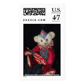 Americana Bear Created by Steve Schutt Postage Stamp