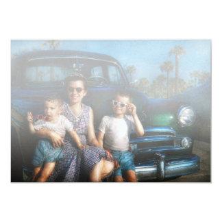 Americana - Car - The classic American vacation Invites