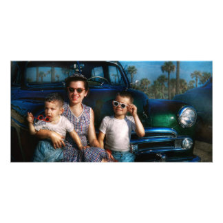 Americana - Car - The classic American vacation Picture Card