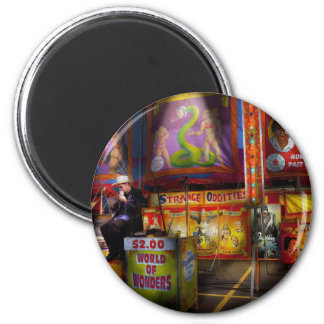 Americana - Carnival - Strange Oddities 2 Inch Round Magnet